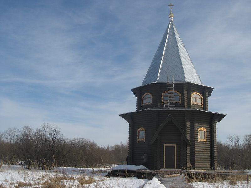 Храм преподобного Мартиниана Белозерского на озере Воже