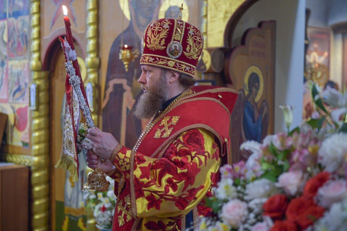 В день памяти святителя Игнатия (Брянчанинова) митрополит Савва совершил Литургию в храме села Покровского