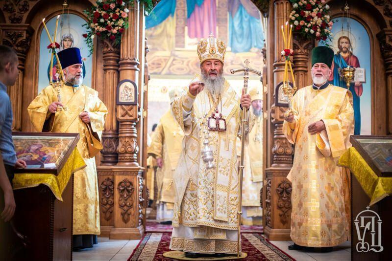 Блаженнейший митрополит Киевский Онуфрий возглавил торжества престольного праздника в Ольгинском соборе украинской столицы