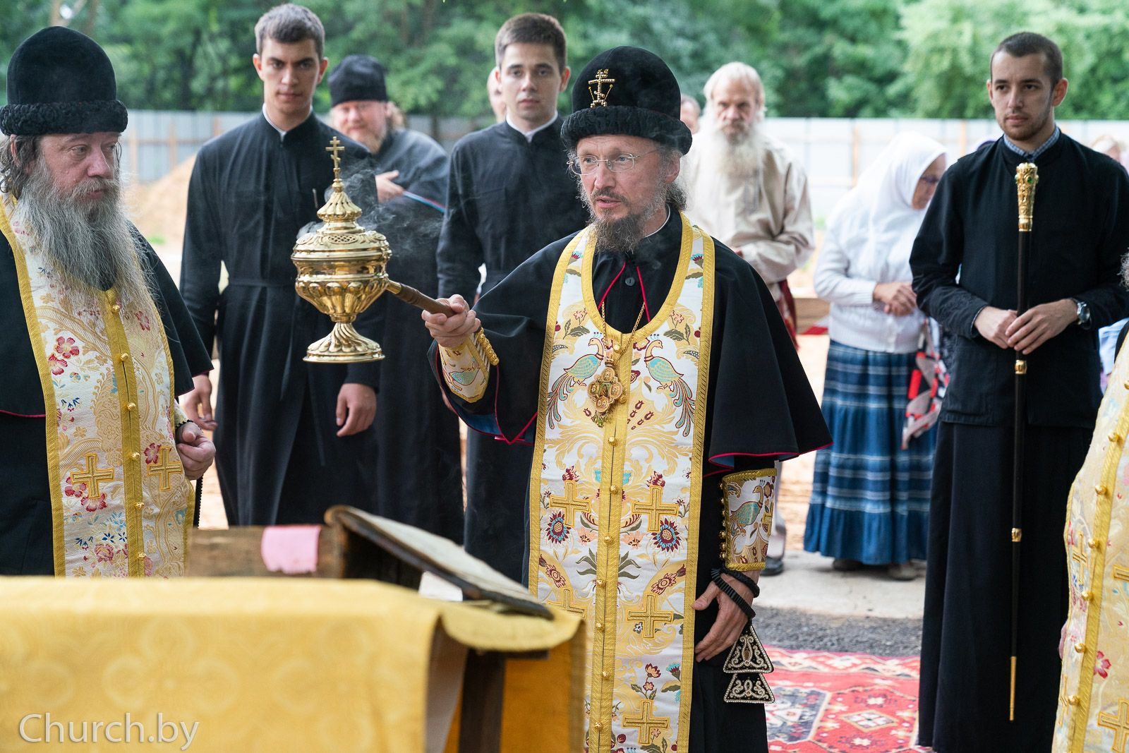 Патриарший экзарх всея Беларуси совершил чин на основание старообрядческого храма в честь пророка Илии в Минске
