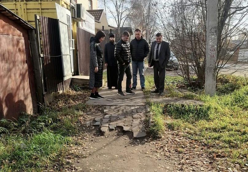 Рядом с Георгиевским храмом Великого Устюга появятся новые тротуары